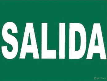 Cartel PVC 40x30 Salida
